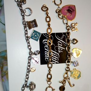 3 juicy couture charm bracelets